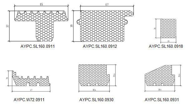 Вспененные вставки, используемые в ALT SL160