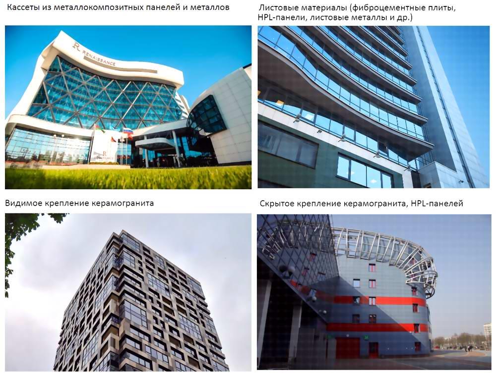 Вентилируемые фасады оформление