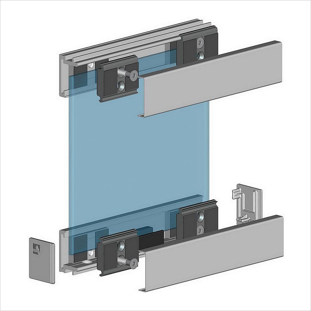 Конструкция стеклянных перегородок