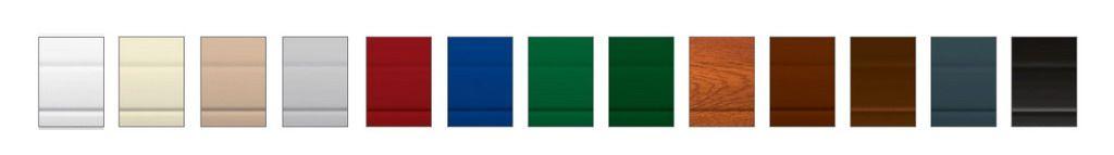 Цветовая палитра секций ограждения, секций для заборов