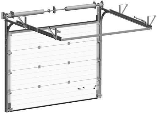 Одновальная система балансировки промышленных ворот